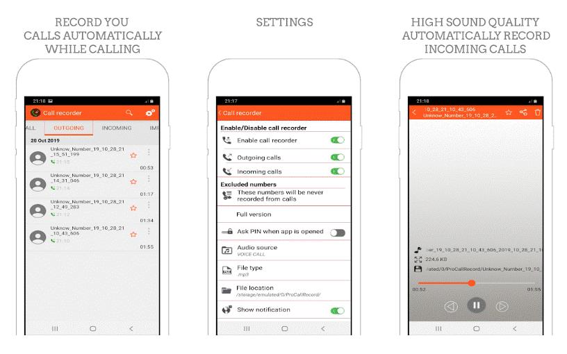 تسجيل الاتصالات - أفضل 15 تطبيق تسجيل المكالمات الواردة و الصادرة بسهولة و بوضوح .!أندرويد