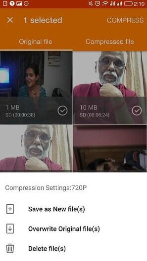تقليل حجم الفديو